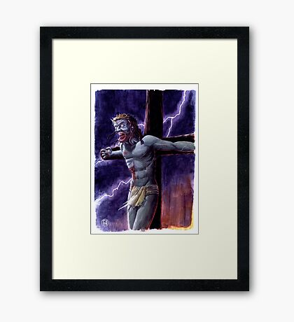 Zombie Jesus Christ Framed Print