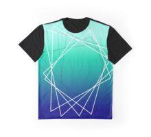 Geometric blue Graphic T-Shirt