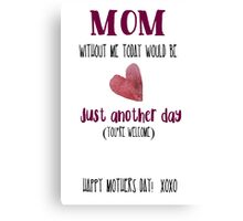 Mothers Day Cards  Canvas Print