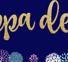 Kappa Delta Glitter Floral Sticker