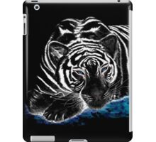 The black tiger with silver whiskers weeps over the world .. iPad Case/Skin