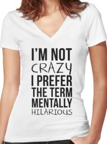 Mentally Hilarious Women's Fitted V-Neck T-Shirt