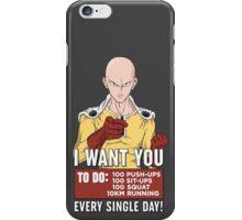 Saitama wants you! iPhone Case/Skin