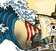 Going Merry by Hokusai Sticker