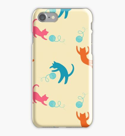 Playing cats iPhone Case/Skin