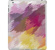 Abstract colorful bright background with brush strokes texture iPad Case/Skin