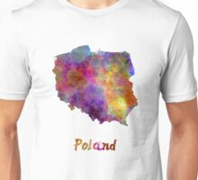 Poland in watercolor Unisex T-Shirt