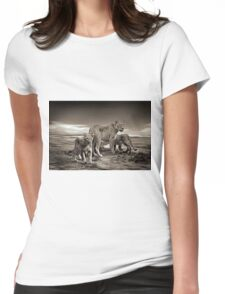 Lion Family Womens Fitted T-Shirt