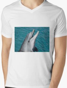 Dolphin Mens V-Neck T-Shirt