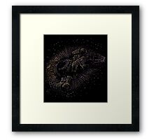 Space Leaf Framed Print
