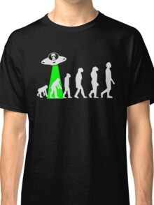 Human Evolution Manipulated By Space Aliens Classic T-Shirt