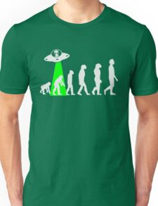 Human Evolution Manipulated By Space Aliens T-Shirt