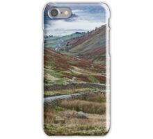 Fog formed in the valley at sunrise. Kirkstone Pass, Cumbria, UK. iPhone Case/Skin