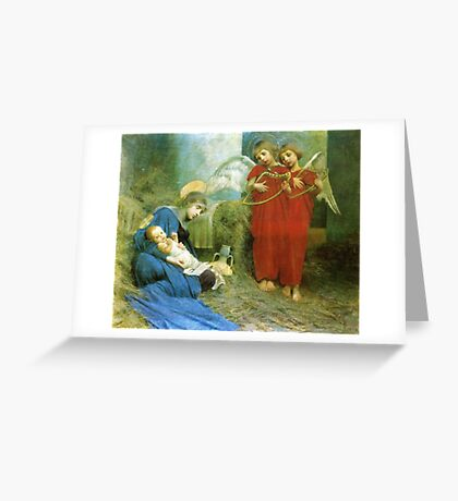 Marianne Stokes - Angels Entertaining the  Holy Child  Greeting Card