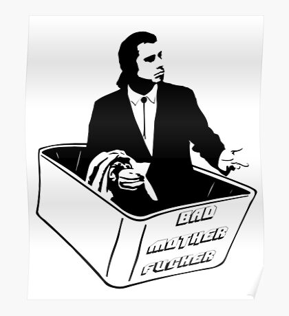 Pulp Fiction Vincent Vega Confused No Money Wallet Poster