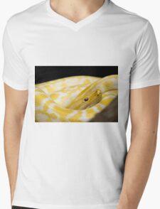 Yellow Snake Mens V-Neck T-Shirt