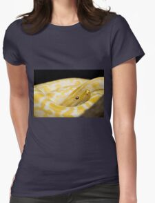 Yellow Snake Womens Fitted T-Shirt