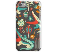 Crocodiles and Flowers iPhone Case/Skin