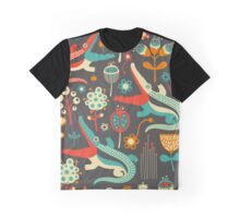 Crocodiles and Flowers Graphic T-Shirt