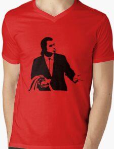 Pulp Fiction Vincent Vega Confused Mens V-Neck T-Shirt