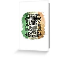 Conor McGregor Crest Tricolour Greeting Card
