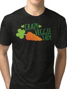 Crazy Veggie Lady Tri-blend T-Shirt