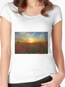 Sunset Women's Fitted Scoop T-Shirt