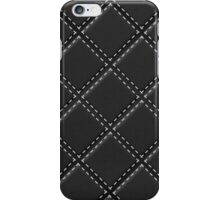Quilted Black Leather Automotive Materials and Textures iPhone Case/Skin