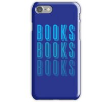 BOOKS BOOKS BOOKS in blue iPhone Case/Skin