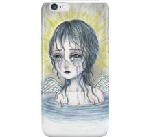 Weeping Angel (water) iPhone Case/Skin