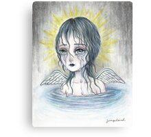 Weeping Angel (water) Canvas Print
