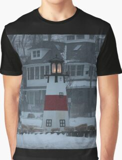 Snowy Afternoon at the Bluff Graphic T-Shirt