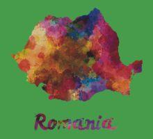 Romania in watercolor Kids Tee