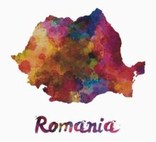Romania in watercolor Kids Tee
