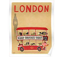 London Bus Poster