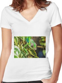 Exotic Reptile Women's Fitted V-Neck T-Shirt