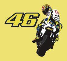 Valentino Rossi drawn motorbike One Piece - Short Sleeve