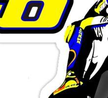 Valentino Rossi drawn motorbike Sticker