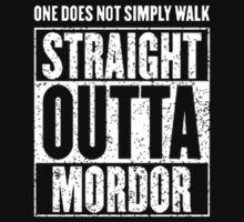 Straight Outta Mordor Kids Tee