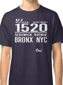 DJ Kool Herc Sedgwick Avenue [wht] Classic T-Shirt