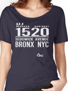 DJ Kool Herc Sedgwick Avenue [wht] Women's Relaxed Fit T-Shirt