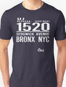 DJ Kool Herc Sedgwick Avenue [wht] Unisex T-Shirt