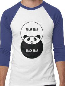 Panda Bear: Venn Diagram Men's Baseball ¾ T-Shirt