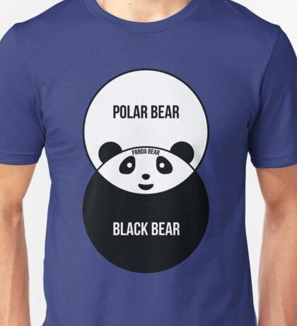 Panda Bear: Venn Diagram Unisex T-Shirt