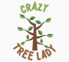 Crazy Tree lady (circle) One Piece - Long Sleeve
