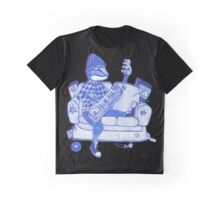 Lizard Lounge in Blue Graphic T-Shirt