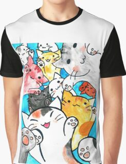 Manga cats conquer the world Graphic T-Shirt