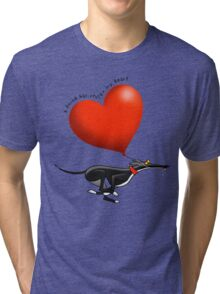 Stolen Heart - black hound Tri-blend T-Shirt