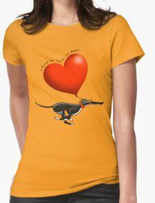 Stolen Heart - black hound Womens Fitted T-Shirt