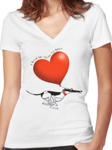 Stolen Heart - cowhound Women's Fitted V-Neck T-Shirt